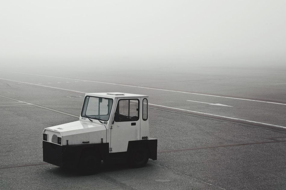 Beautiful stock photos of truck, Airport, Asphalt, Day, Fog