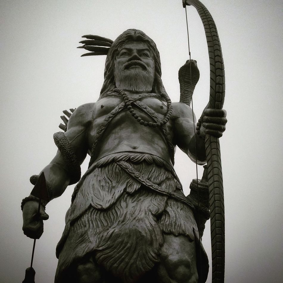 Lord Shiva Lord Shiva Kirateswara Avatar Battleready Warrior Hinduism God Sikkim,india Sculpture Statue Human Representation Art And Craft Male Likeness Low Angle View History Sky No People Outdoors City King - Royal Person Day Architecture Representing Mammal Politics And Government