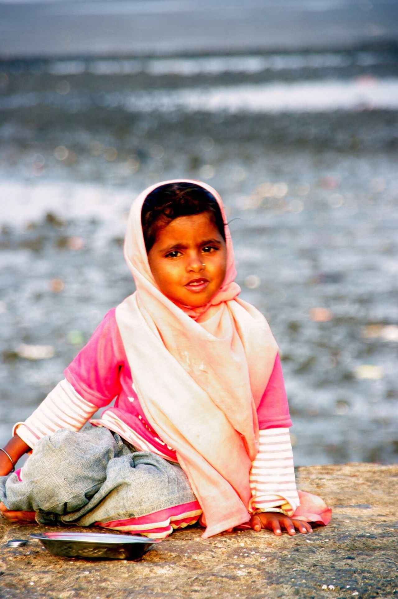 Flashback 2010 Mumbai India Portrait Little Girl Haji Ali Mumbai Mosque Pentax K20d EyeEm Best Shots - My Best Shot Color Portrait Touching Beautiful Eyes That Eyes