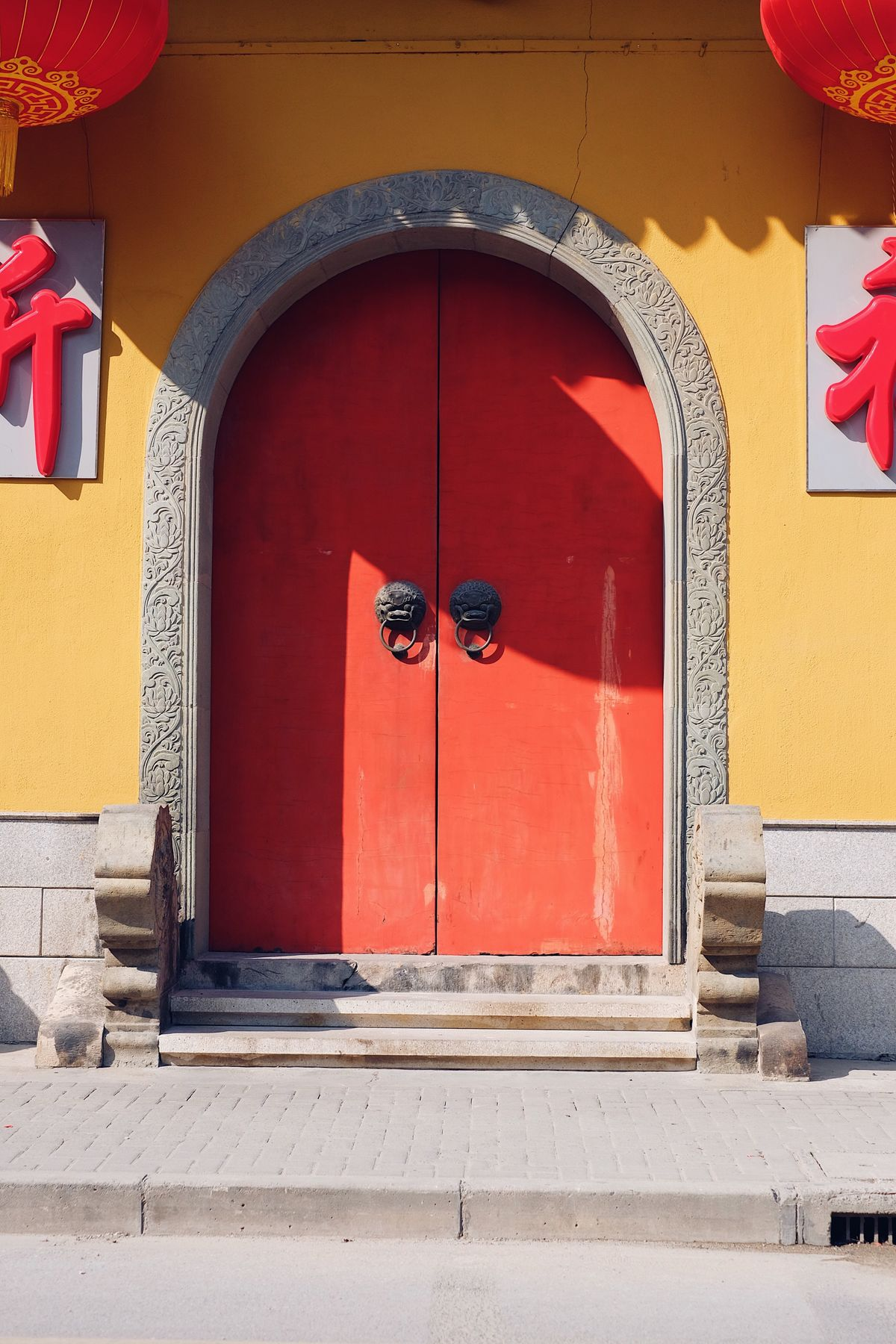 Chinese temple door Door Building Exterior Architecture Outdoors Entrance Chinese