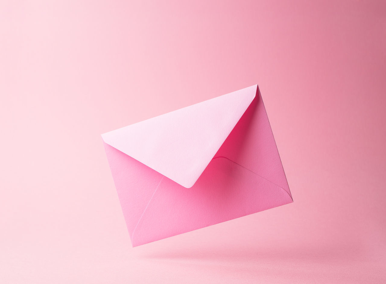 Beautiful stock photos of letter,  Close-Up,  Colored Background,  Copy Space,  Envelope