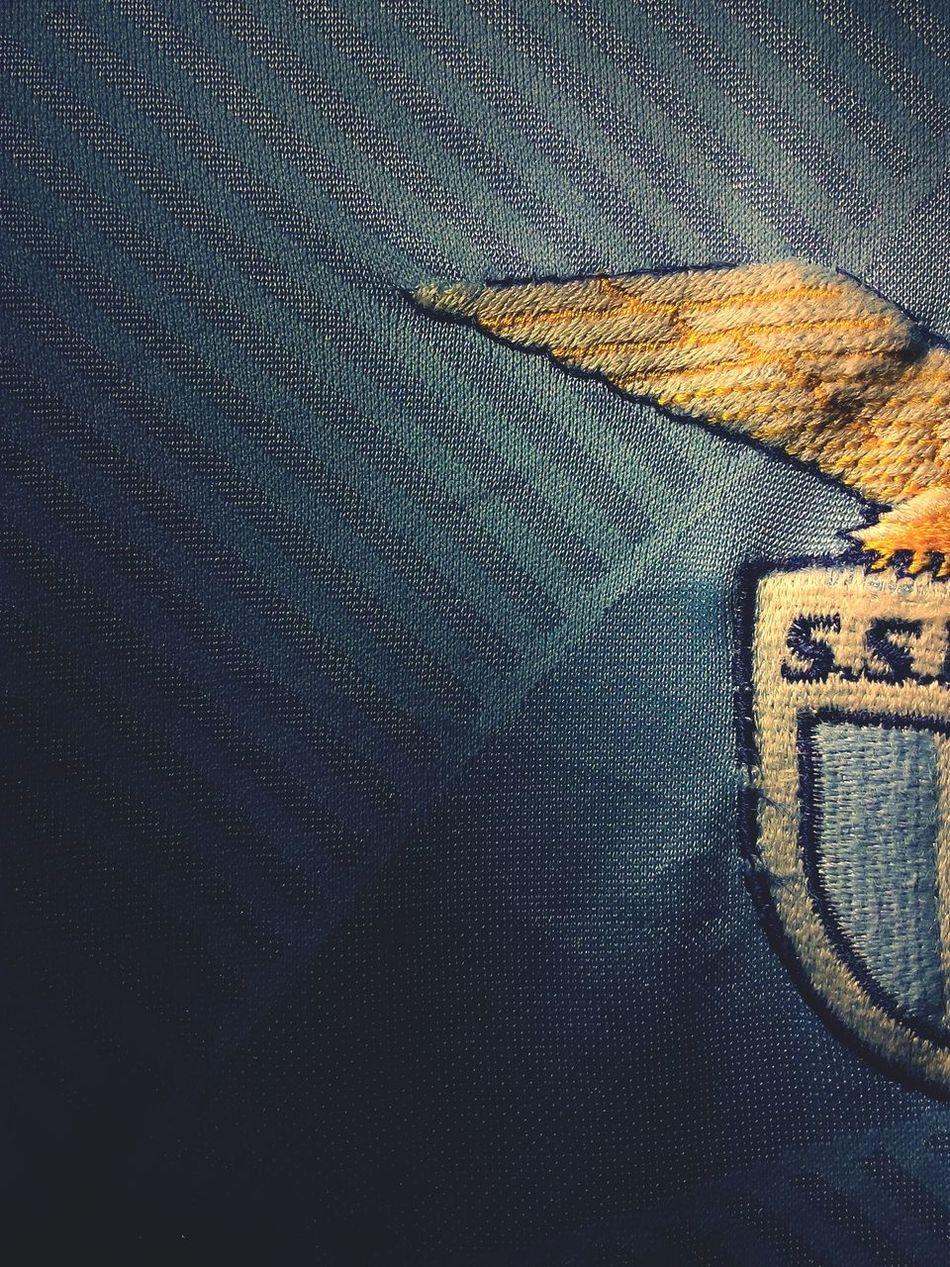 Creative Light And Shadow Football Fever Shirt Eagle Blue Nylon Football Club Serie A Fabric World Of Football Fabric Detail Vintage Jersey Italian Classic Football Team