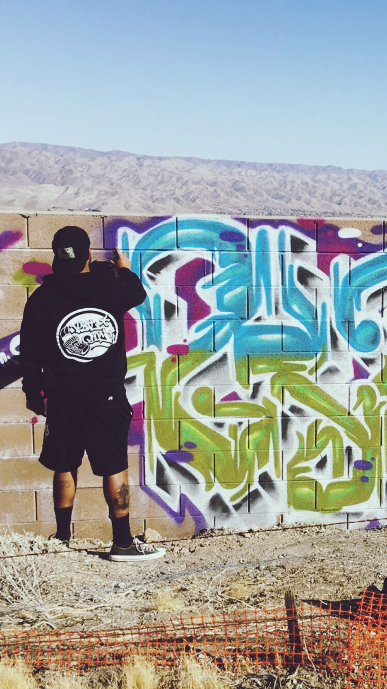 UrbanART Aerosol Street Graffiti Close-up Person Paint