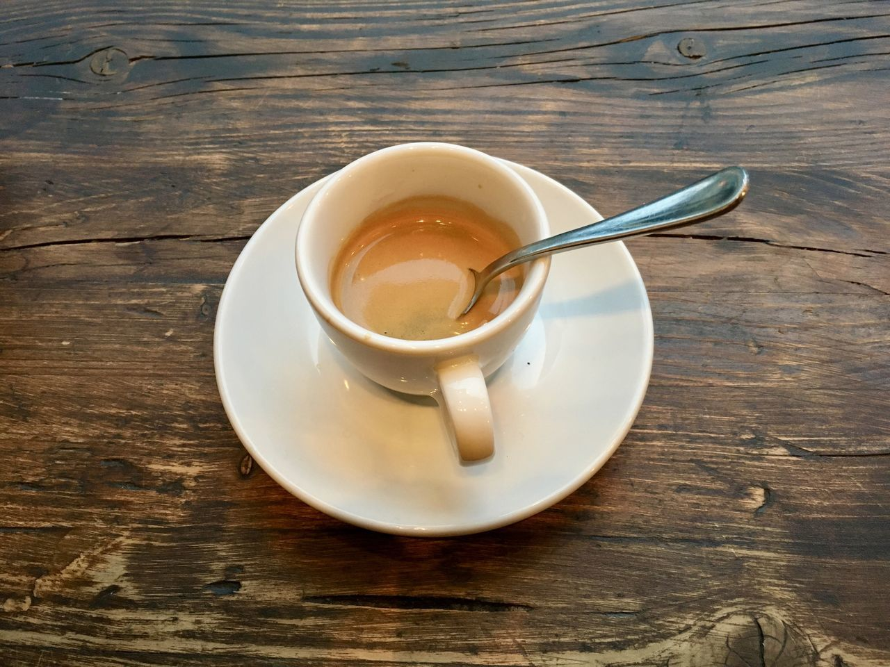 table, refreshment, food and drink, wood - material, drink, saucer, coffee cup, high angle view, no people, freshness, indoors, close-up, day
