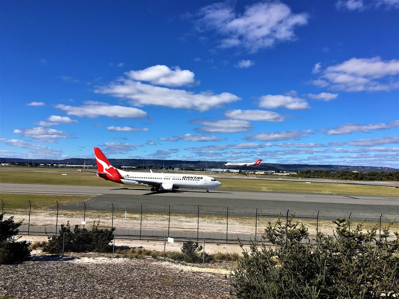Airport Plane Enthusiast Photography Rear View Spotting Capture The Moment Landing Perth Airport Day Sky Airplane One Person Air Vehicle Plane Spotting Flying Outdoors Cloud - Sky Real People Australia People Transportation Hobby Hobbyphotography Quantas