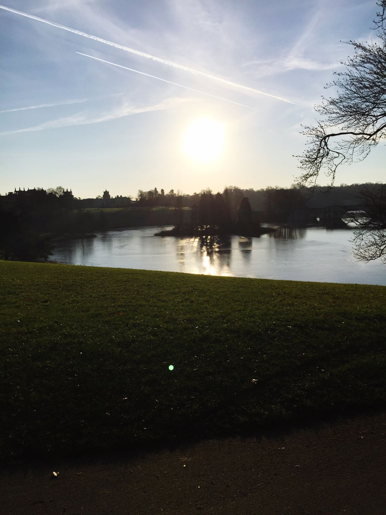 Blenheimpalace Garden Lake View Island Oxfordshire Oxford Royal Daytime Photography