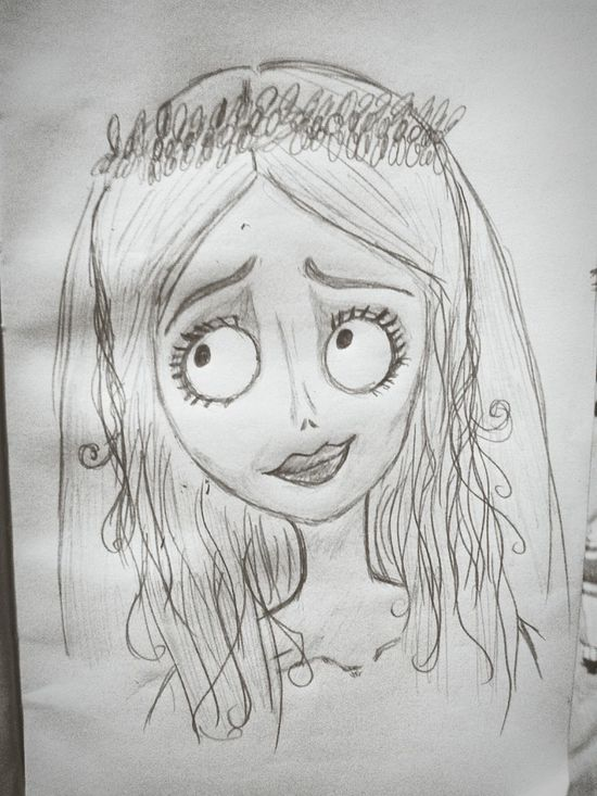 I did my best, but I guess my best wasn't good enough.. Corpse Bride  Drawing ArtInMyLife