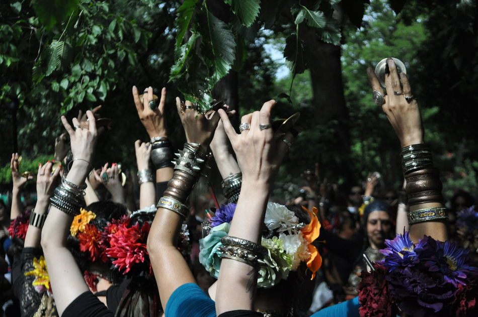 Casual Clothing Crowd Cultures Cymbols Dance Click Sway Dancers Day Indian Percussion Instruments Leisure Activity Lifestyles Manjeera Manjira Multi Colored Nature Outdoors Personal Perspective Reaching For The Sky Side By Side Small Hand Cymbols Small Symbols