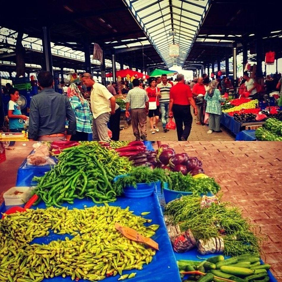 Pazar halleri??? çanakkale Sali Pazari Organik sebze meyve fruits vegetables