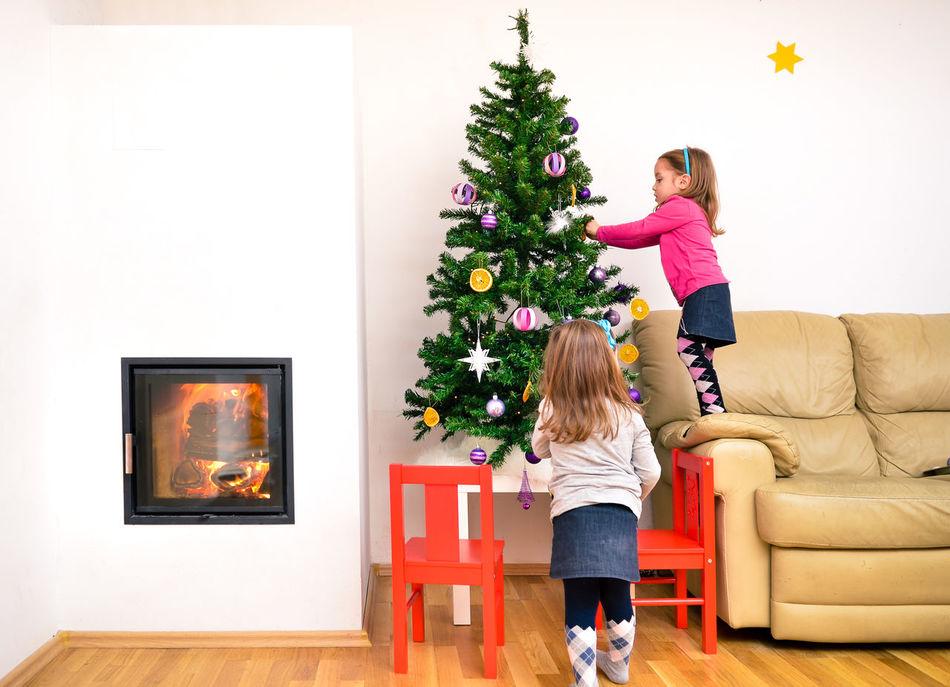 Beautiful stock photos of weihnachtsbaum,  2-3 Years,  Adult,  Bonding,  Celebration