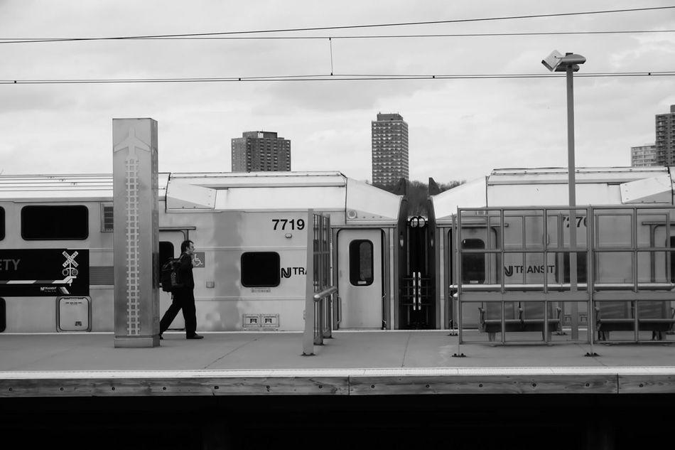 Newark Penn Station Taking Photos Train Station Train Waiting For A Train Blackandwhite Black And White Black & White