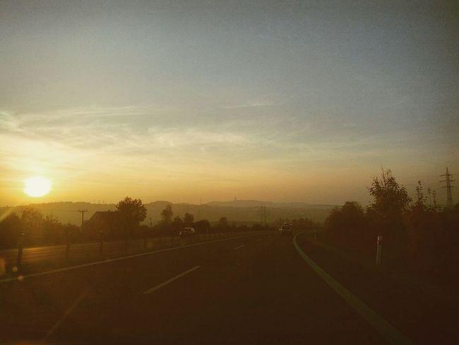 North czech sunset Teplice Ceskarepublika Projizdka Zapadslunce First Eyeem Photo
