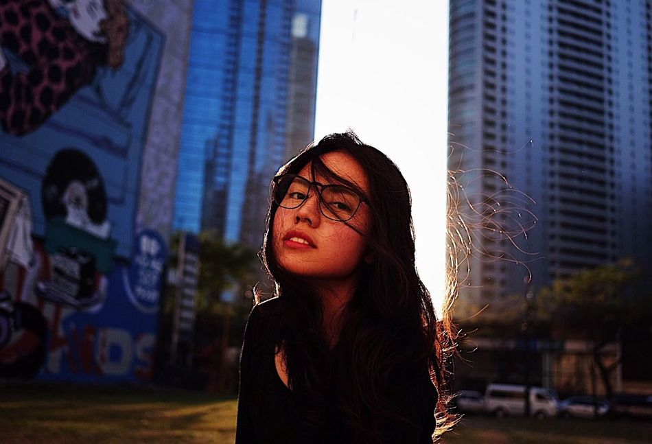 Eyeglasses  City Portrait Young Adult Headshot Lifestyles Young Women Front View Standing One Person Outdoors Architecture Building Exterior Only Women Adults Only Close-up Adult One Young Woman Only People