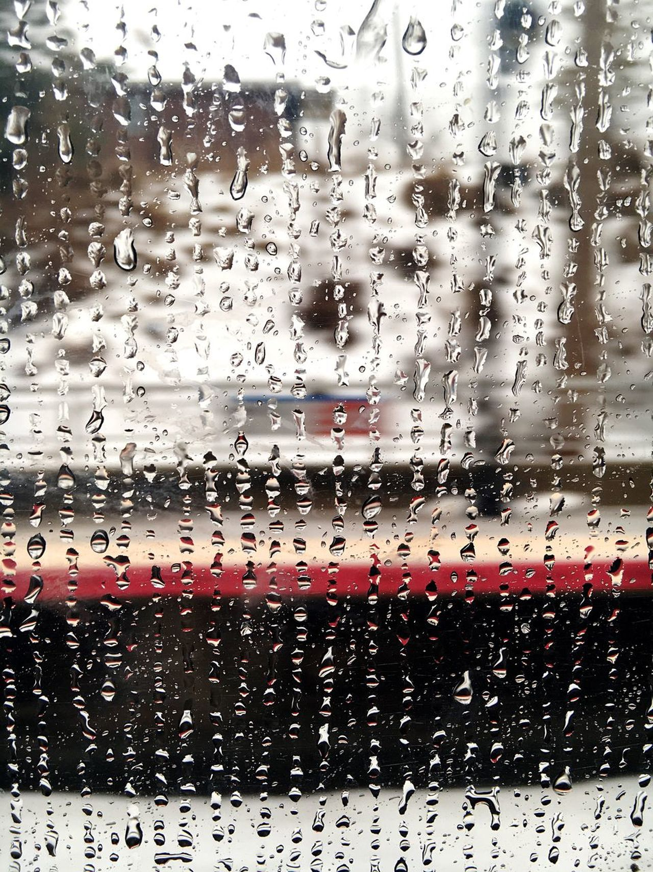 BYOPaper! Window Drop Glass - Material Transparent Wet Rain Water Full Frame Backgrounds Glass Transportation Mode Of Transport Weather Land Vehicle No People RainDrop Rainy Season Travel Indoors  Day Rainy Days