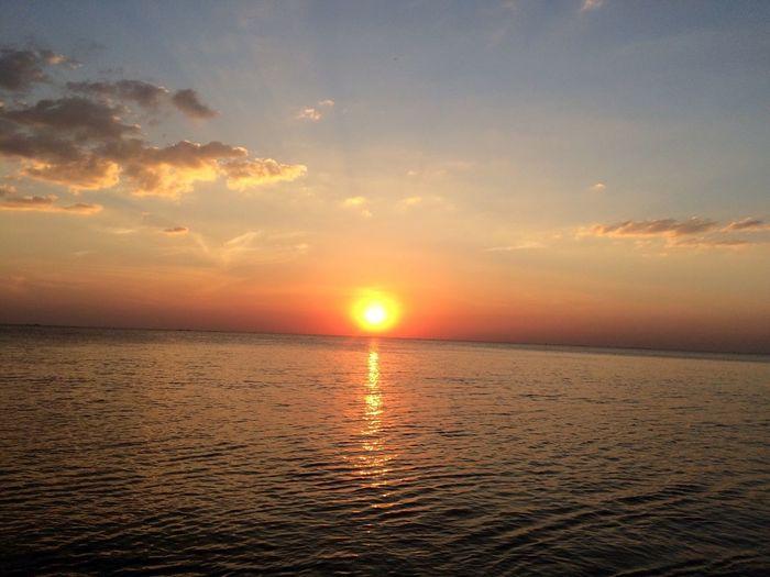 Sunshine Sea Sun Nature Travelling Sunset