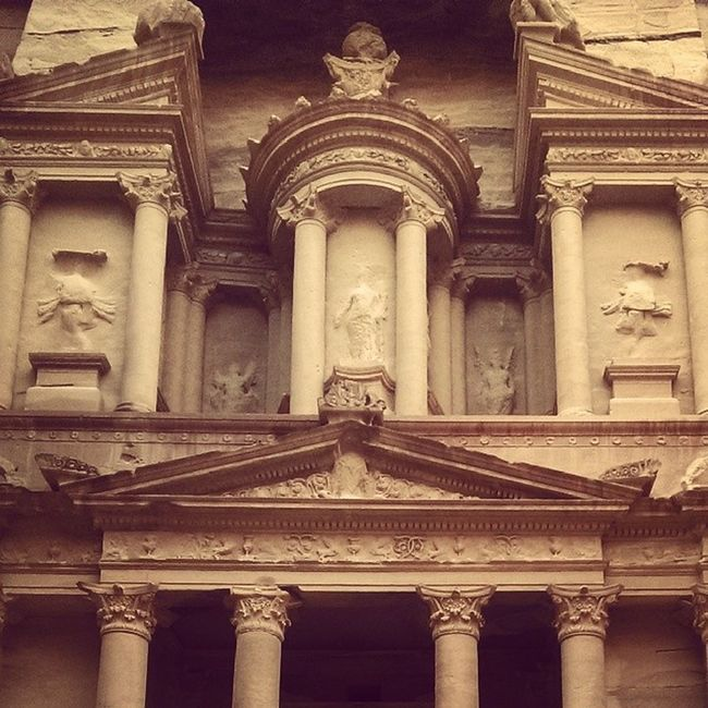 The Treasury in Petra. Petra Eritage Colors Instagram