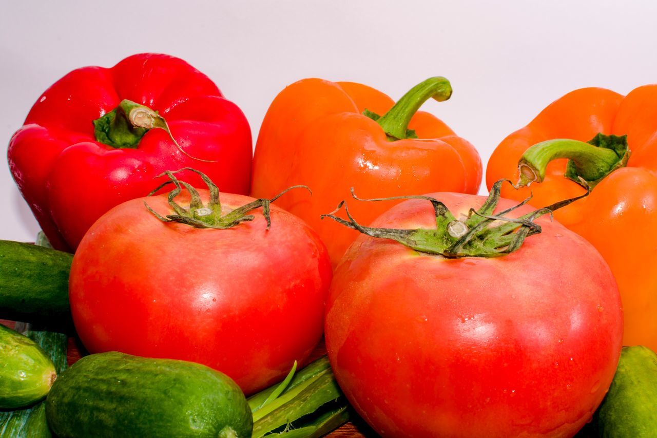 Food Vegetable Food And Drink Freshness Healthy Eating Tomato No People Red Red Bell Pepper Indoors  Close-up Day