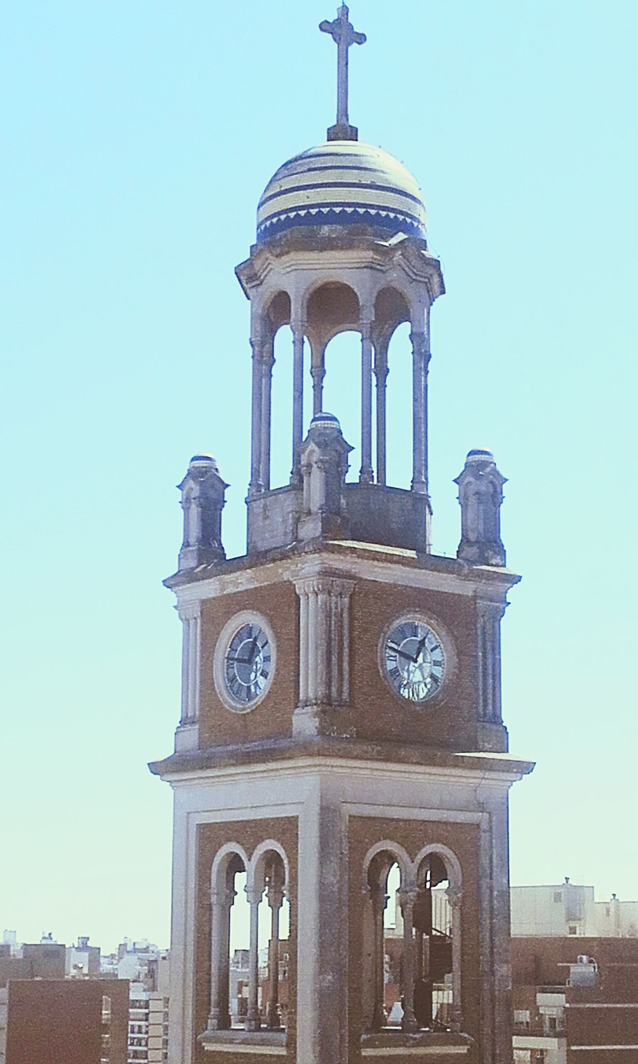 Dome City Architecture Travel Destinations Clock Face Day Campanas Campanario Cruz Rosario Rosario, Santa Fe RosarioCity Architecture EyeEm Gallery Argentina💘