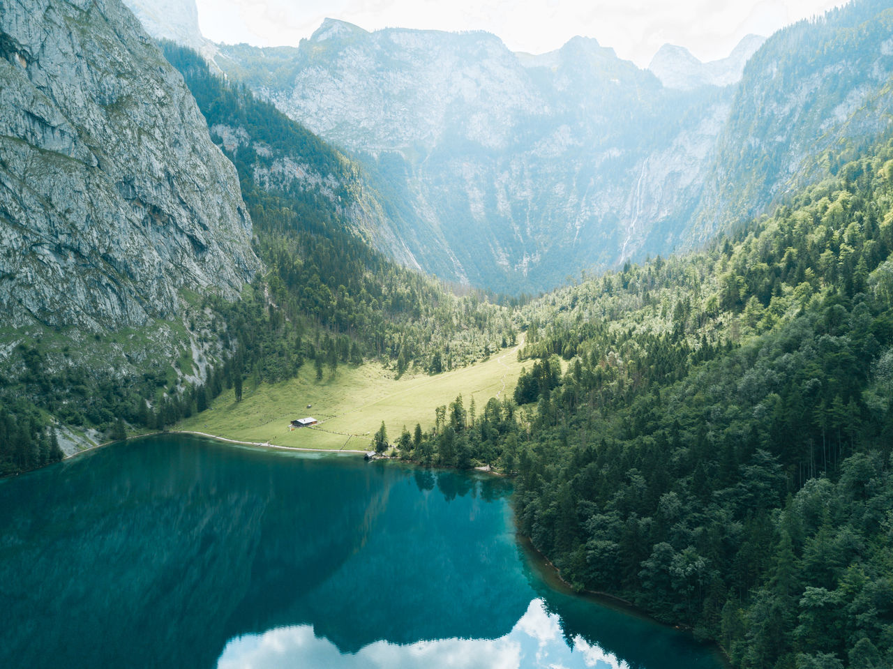 Aerial image of a mountain lake with reflection. Beauty In Nature Day Landscape Mountain Mountain Range Nature No People Outdoors Scenics Sky Tranquil Scene Tranquility Tree Water EyeEm Selects