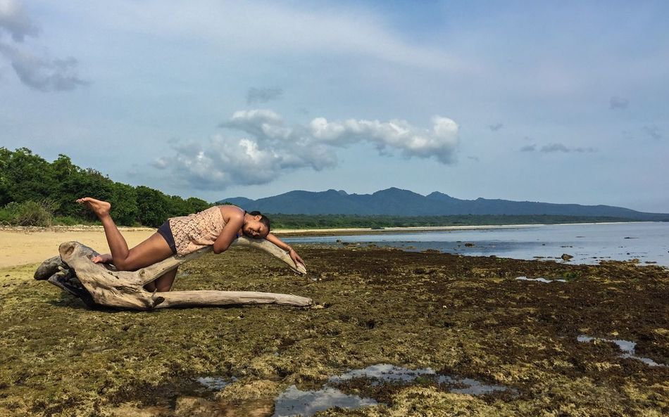 or just laydown enjoying the Nature Beach Cloudandsky Mountain Happysunday Ilovemylife