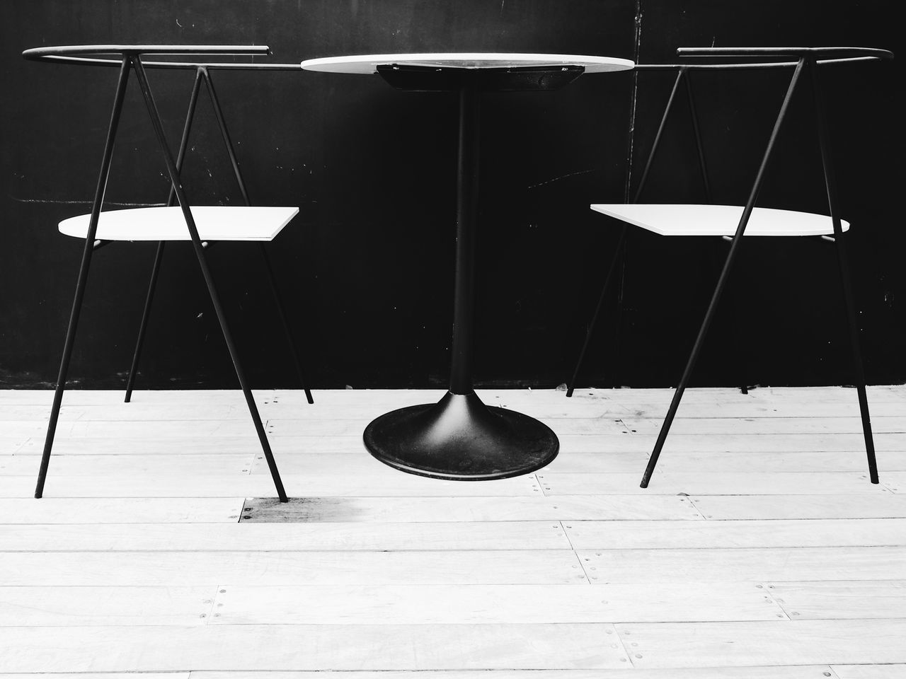 Table No People Day Outdoors Furnitures Design Minimal Chair Blackandwhite Minimalism Modern Art Furniture Design Table Setting Lines And Shapes Exterior Restaurant Decoration Simplicity Style