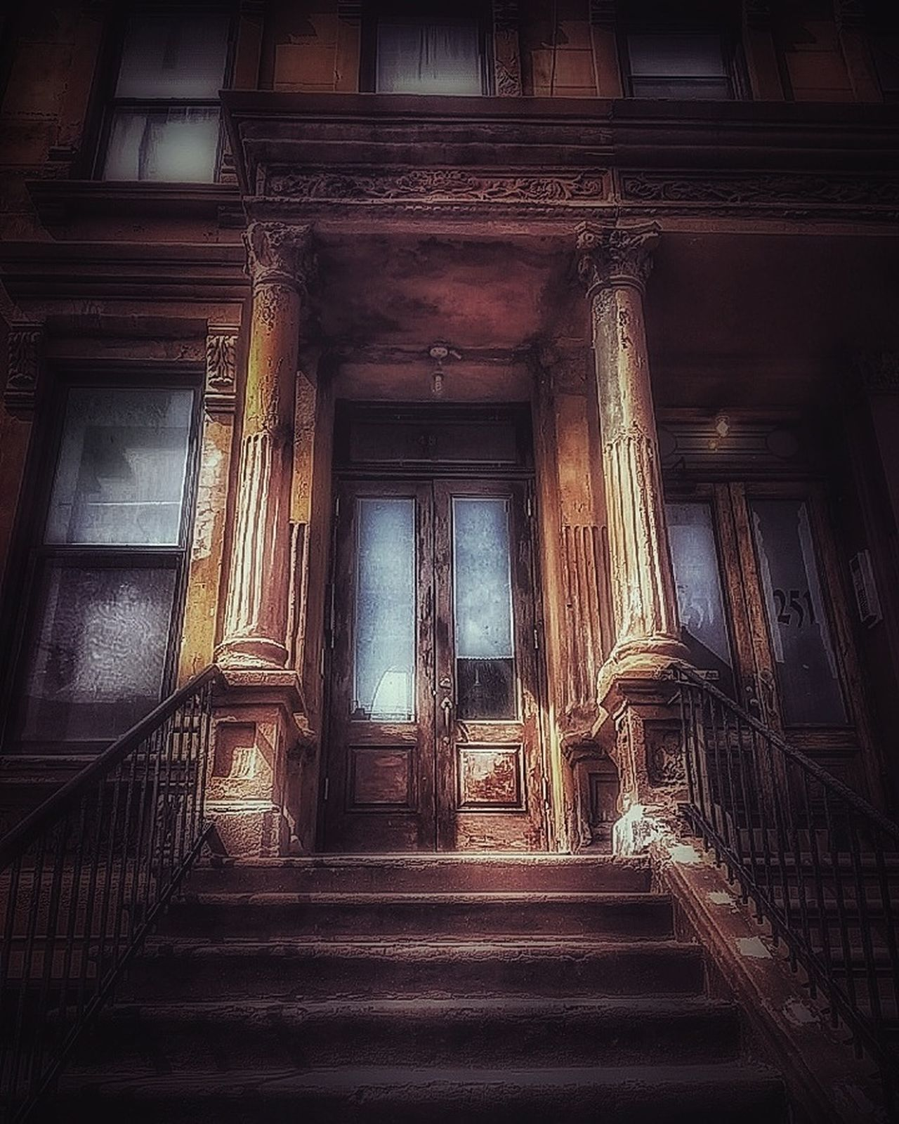 Built Structure Staircase Urban Lifestyle Abandoned Buildings Damaged Decayed Beauty Residential Building EyeEm Gallery Deterioration AMPt - My Perspective AMPt - Street Building Exterior NYC Street Brooklyn Nyc Brick Building New York NYC Photography Nycprimeshot New York Street Photography Nycstreetphotography Doorsonly Weathered Urbexphotography Doors