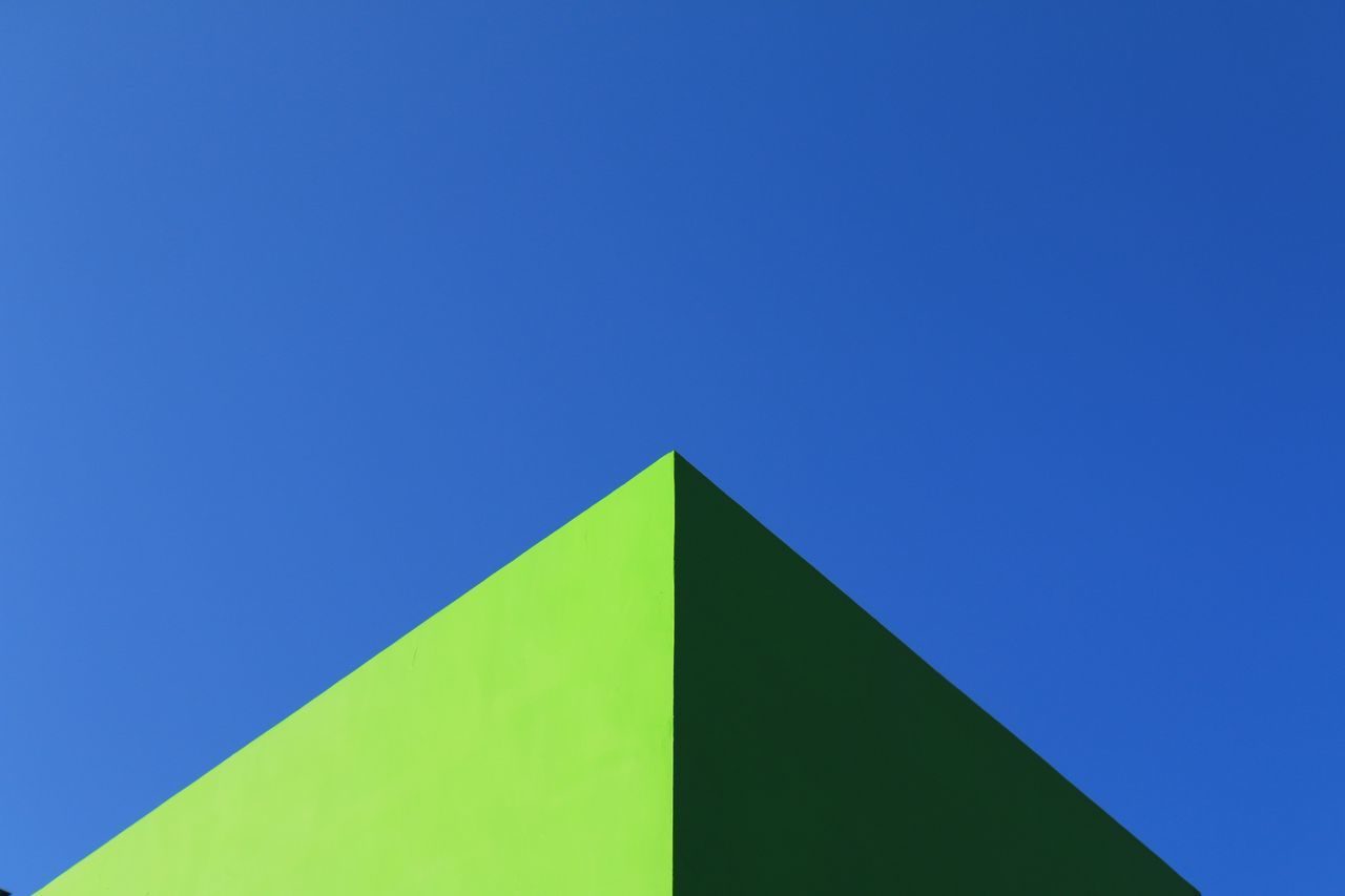 Abstract Architectural Feature Architecture Atmospheric Mood Backgrounds Blue Building Exterior Built Structure Colour Of Life Copy Space EyeEm Best Shots Fine Art Photography First Eyeem Photo Geometric Shape Getting Inspired Learn & Shoot: Simplicity Light And Shadow Minimal Minimalism Minimalist Architecture Nature Simplicity Sky Taking Photos Triangle Shape EyeEmNewHere
