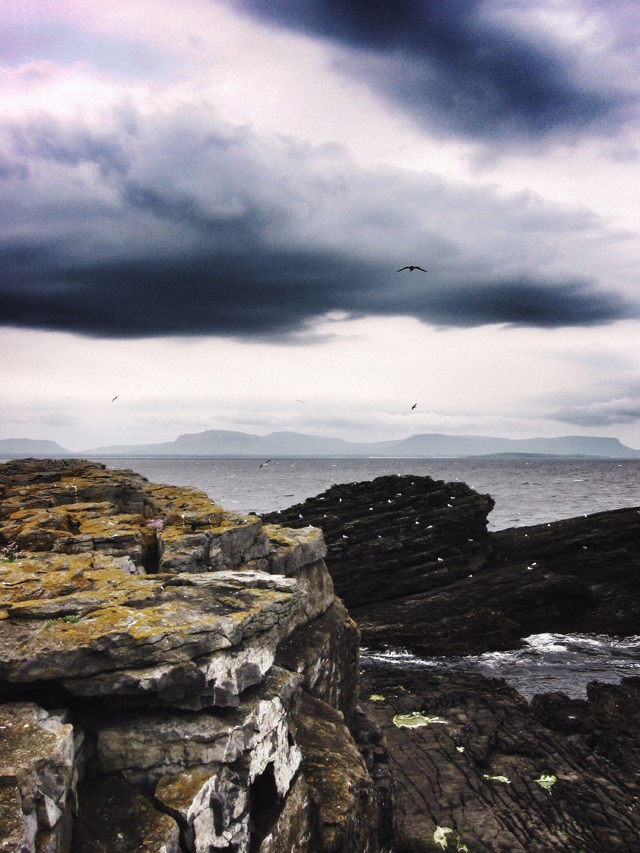 The Burren Ireland Irish Landscape Coast Cliffs Weather Dramatic Dramatic Sky