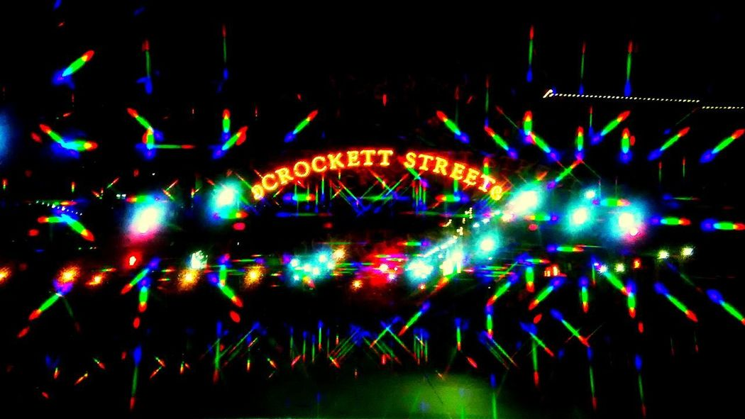 Holo collection: Crocket Street Celebration Night Multi Colored Illuminated No People Outdoors Defocused Spectrum Neon Light Beam City Holographic Filter Holo Collection EyeEm Diversity Holographic Nightlife Innovation Futuristic AbstractCity Life Arts Culture And Entertainment Party - Social Event Pattern Technology Resist Art Is Everywhere Break The Mold The Street Photographer - 2017 EyeEm Awards BYOPaper! Neighborhood Map