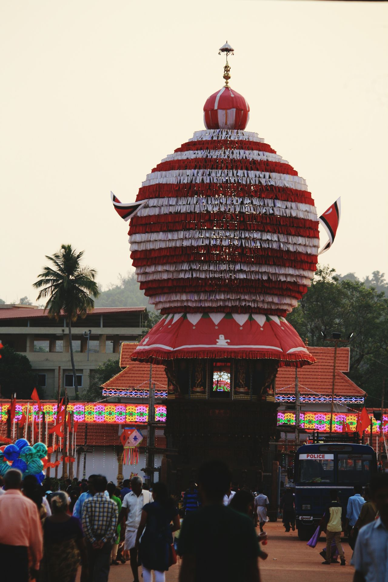 Travel Destinations Architecture History People Sunset Large Group Of People Multi Colored Outdoors Building Exterior Day Puttur Lord Shiva Jatra Festival Ratha