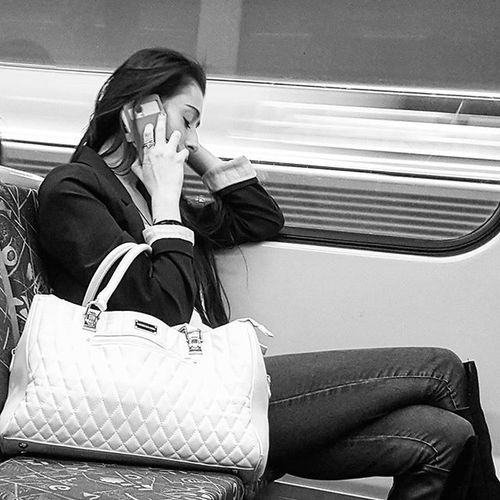 The sense of separation can be crushing.... especially when that tenuous call disconnects as you go through the City Loop.... ..... and it destroys you... as the tunnels stream past in streaks of light... ...yet, you can't bring yourself to pull the phone from your ear... .............. not ready to let go.......... . Transport Candid Street Series. MichaelsCamera TheCreatorClass Ig_community Communityfirst EyeEm Eyeemphoto Justgoshoot Streetlife_mag Main_vision The_lady_bnw Humansinmelbourne Blackandwhite Blackandwhitephotography Blackandwhitelove Insta_bw Bnw_society Bnw Bnw_australia Bnw_captures Bnw_city