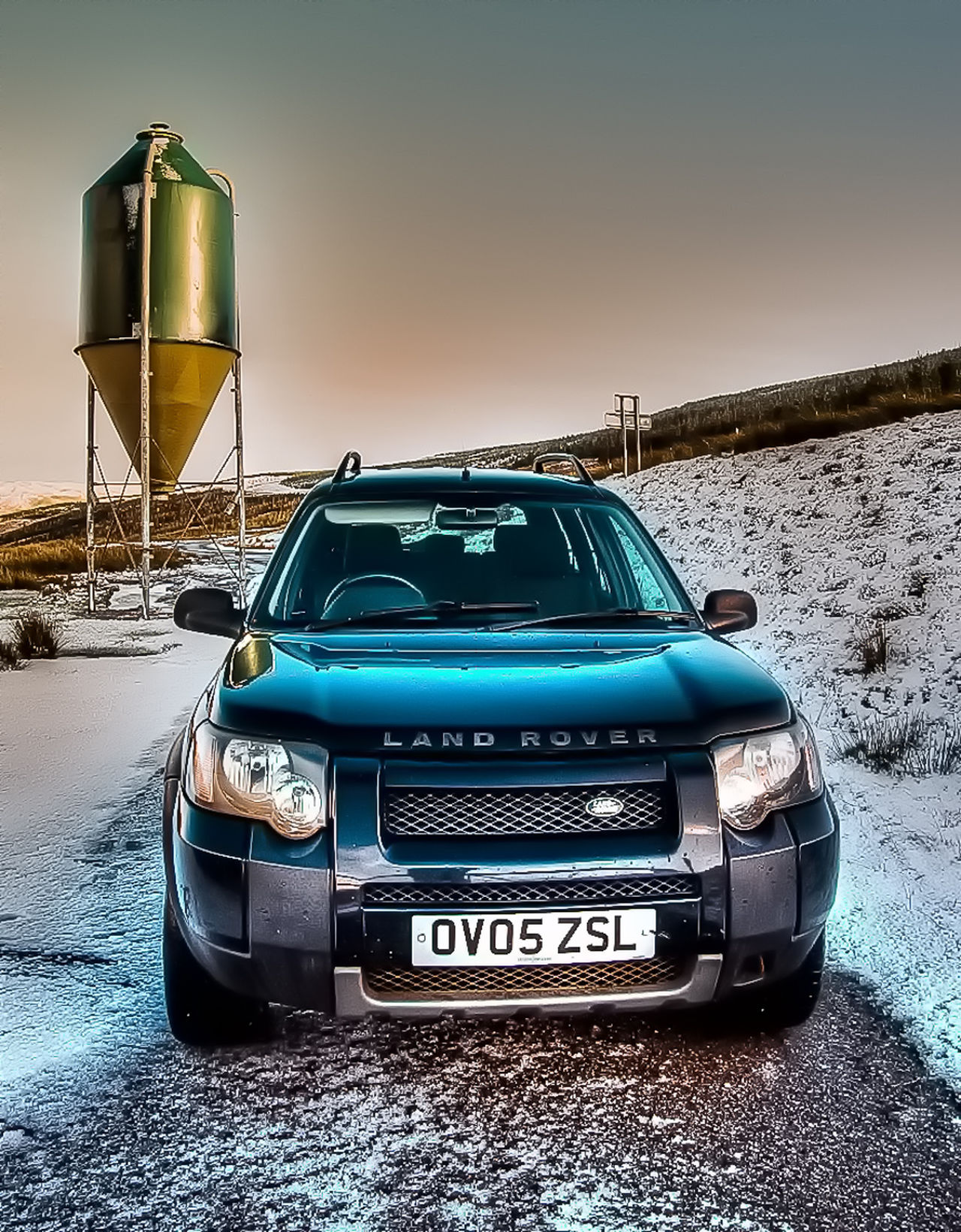 Atmosphere Car Container Hdr_Collection Industrial Landrover  No People Snow Tonemapped