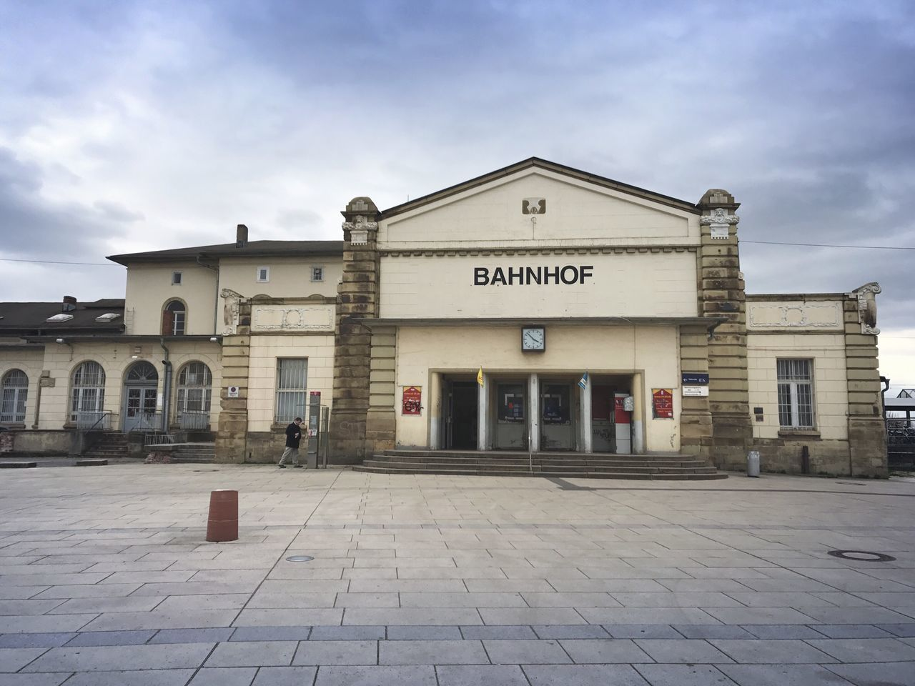 Bahnhof Architecture Built Structure Building Exterior Sky Text Travel Destinations No People Outdoors Day Train Station Urban City Architecture Gotha Sanierung