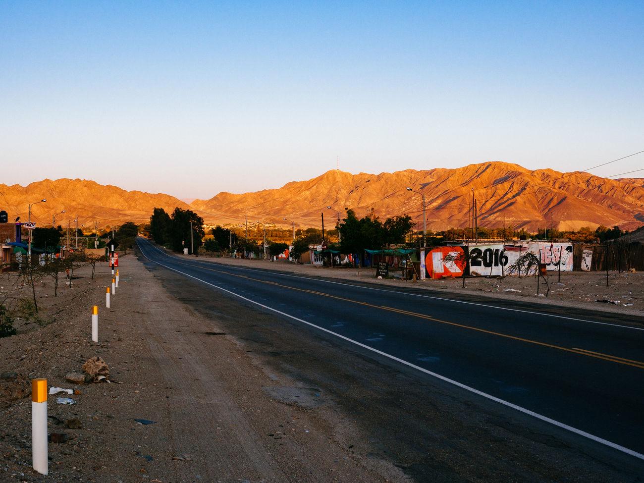 Panamericana Asphalt Clear Sky Mountain Mountain Range No People Panamericana Peru Road Scenics Transportation
