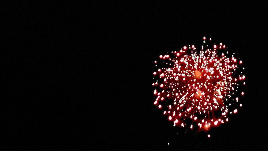 Celebration Night Firework Display Multi Colored viva México