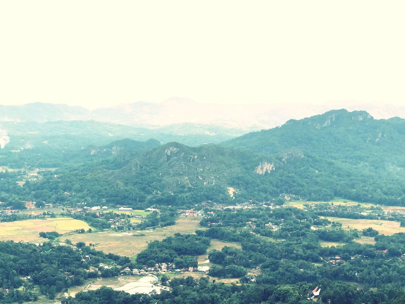 Toraja Utara Landscape Clear Sky Negeridiatasawan Village Beauty In Nature Mountain