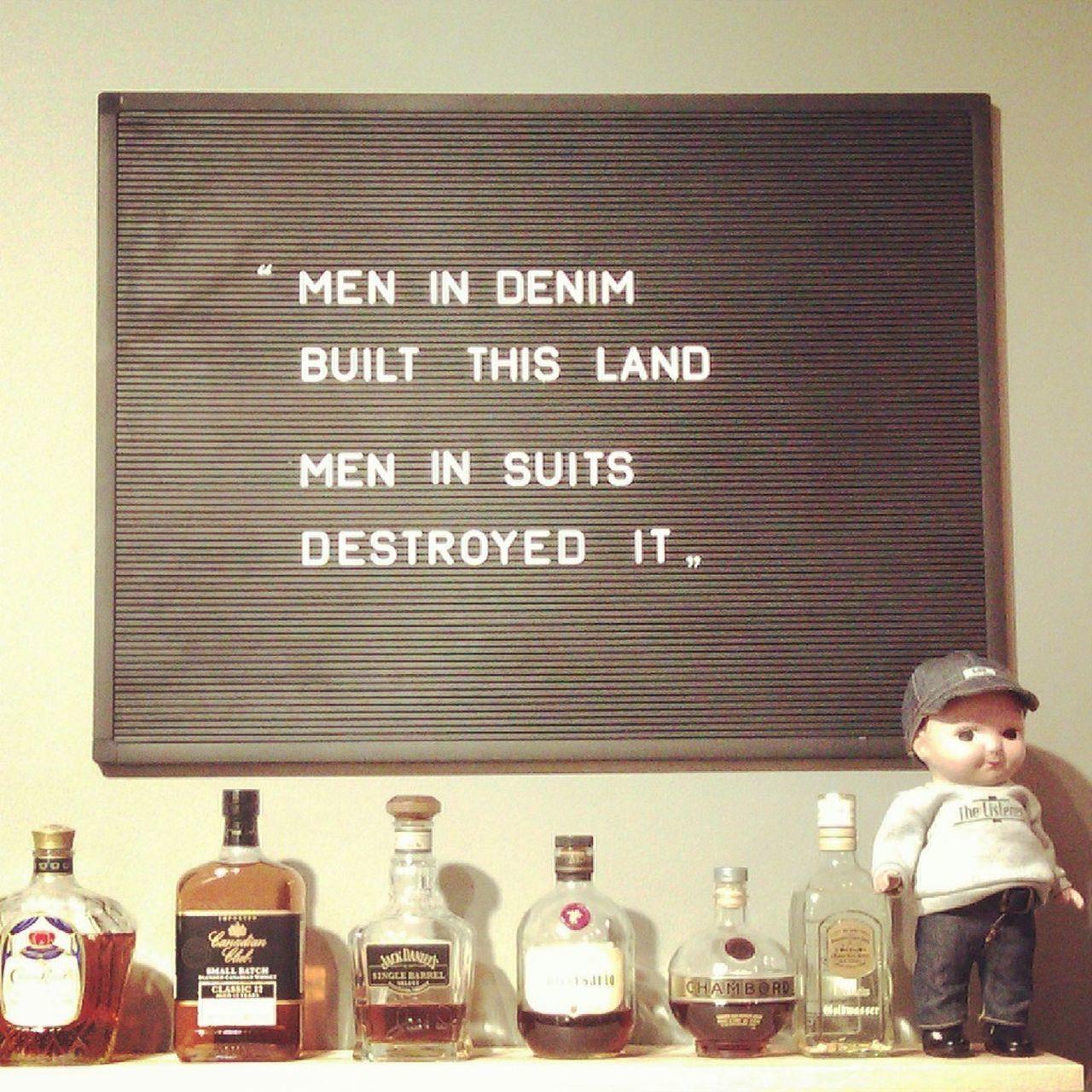 Deep Message Denim Frankfurt Indoors  Liquor Message Board Philosophy Suits