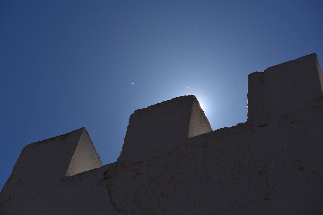 Architecture Low Angle View Built Structure Night Astronomy Pyramid No People Blue Outdoors Sky Nature Diagonal Let's Do It Chic! EyeEm Best Shots Exceptional Photographs Respect For The Good Taste Backlight