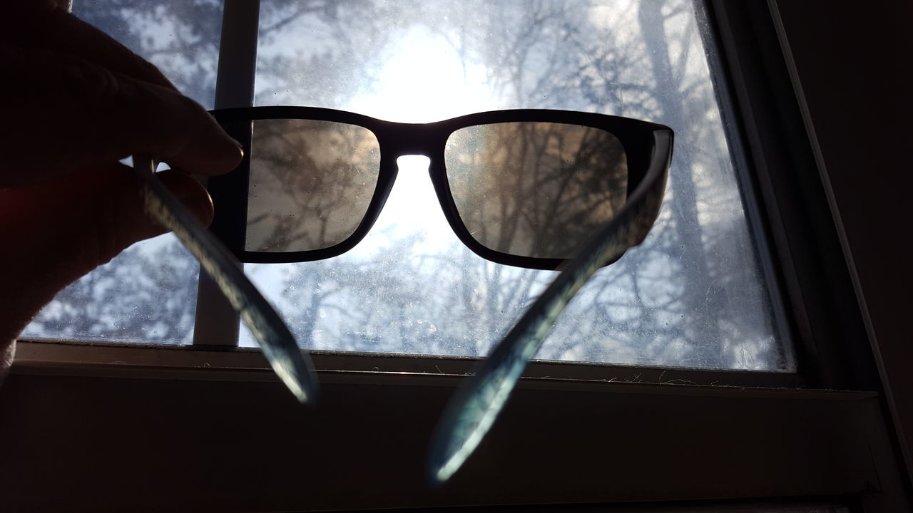 Close-up Cloud - Sky Day Eyeglasses  Eyesight Eyewear Fish-eye Lens Human Body Part Human Hand One Person Outdoors People Sky Sunglasses Vision Window