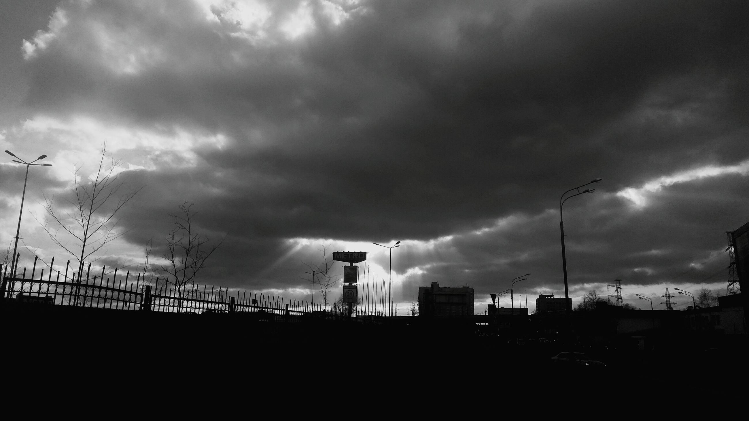 cloud - sky, sky, no people, city, outdoors, nature, storm cloud, tower, architecture, day