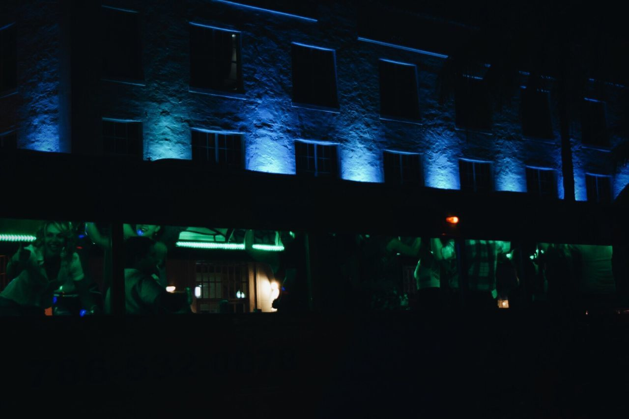 illuminated, night, real people, silhouette, large group of people, indoors, architecture, men, people