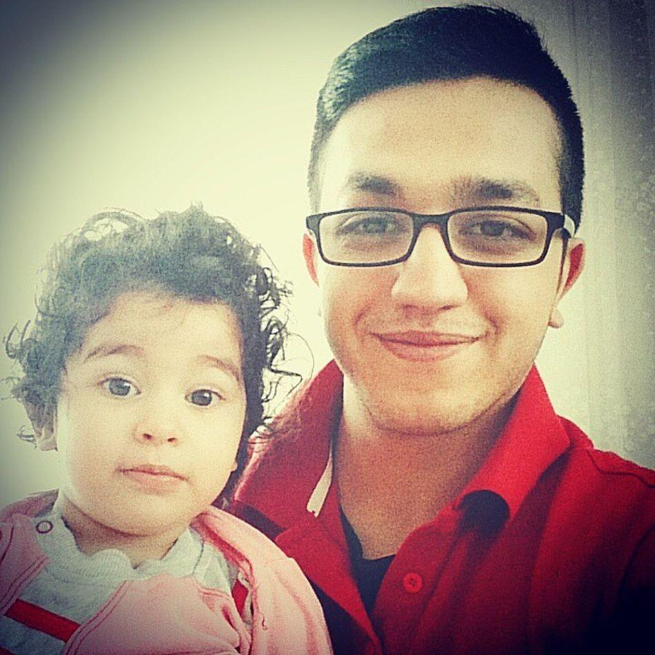 Yeğenimle Selfisi çekinmek Kuzum Benim Dayısınıngülü