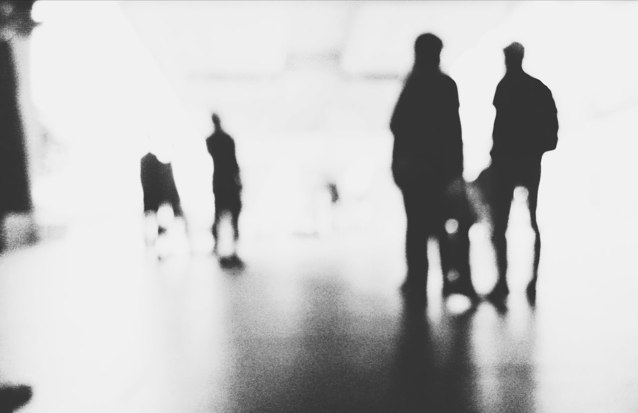 Walking Men Lifestyles Medium Group Of People Indoors  Group Of People Person Leisure Activity Shadow Silhouette Reflection Togetherness City Life Footpath Focus On Foreground Rush Hour Black And White Black And White Photography People Shadow Street Photography Streetphoto_bw Streetphotography_bw