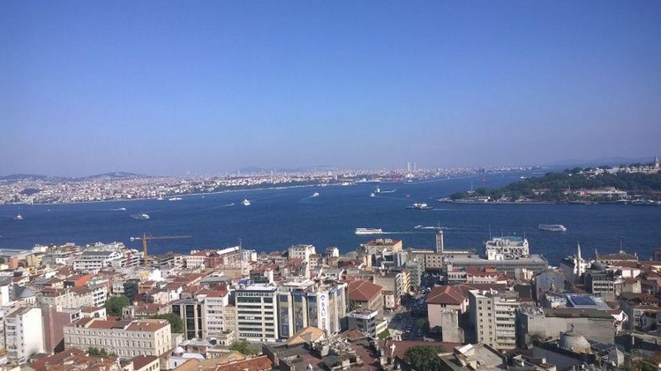 Bosphorus Detroit Istanbul Galata Tower View Boats