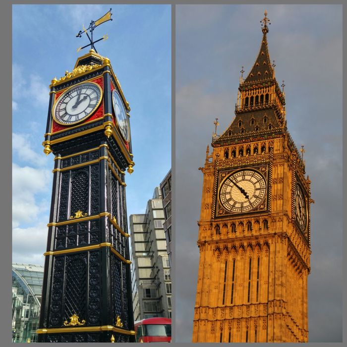 Two Ben's from London Taking Photos Clock Tower Tower Clock London Big Ben London_only Big Ben, London Lines And Design Lines And Angles New Arrival New Arrivals Little Ben The Street Photographer - 2016 EyeEm Awards Your Design Story Fine Art Photography Two ıs Better Than One Postcode Postcards