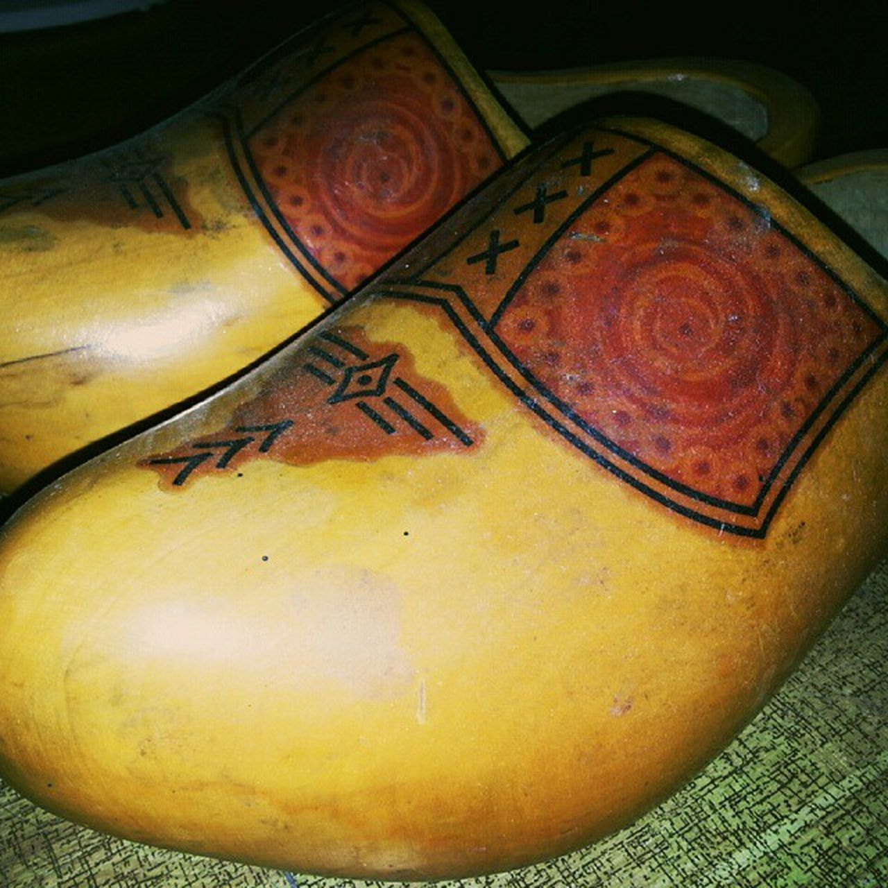 A dream come true! Took a shot of this real clogs shoes from Holland. Clogs Fromholland Holland Hollandshoes woodenshoes history historyofshoes dreamsdocometrue