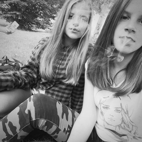 SMOKE.🚬 Smoke Time Girls Long Hair Bff Summer Loveyou Czechgirls