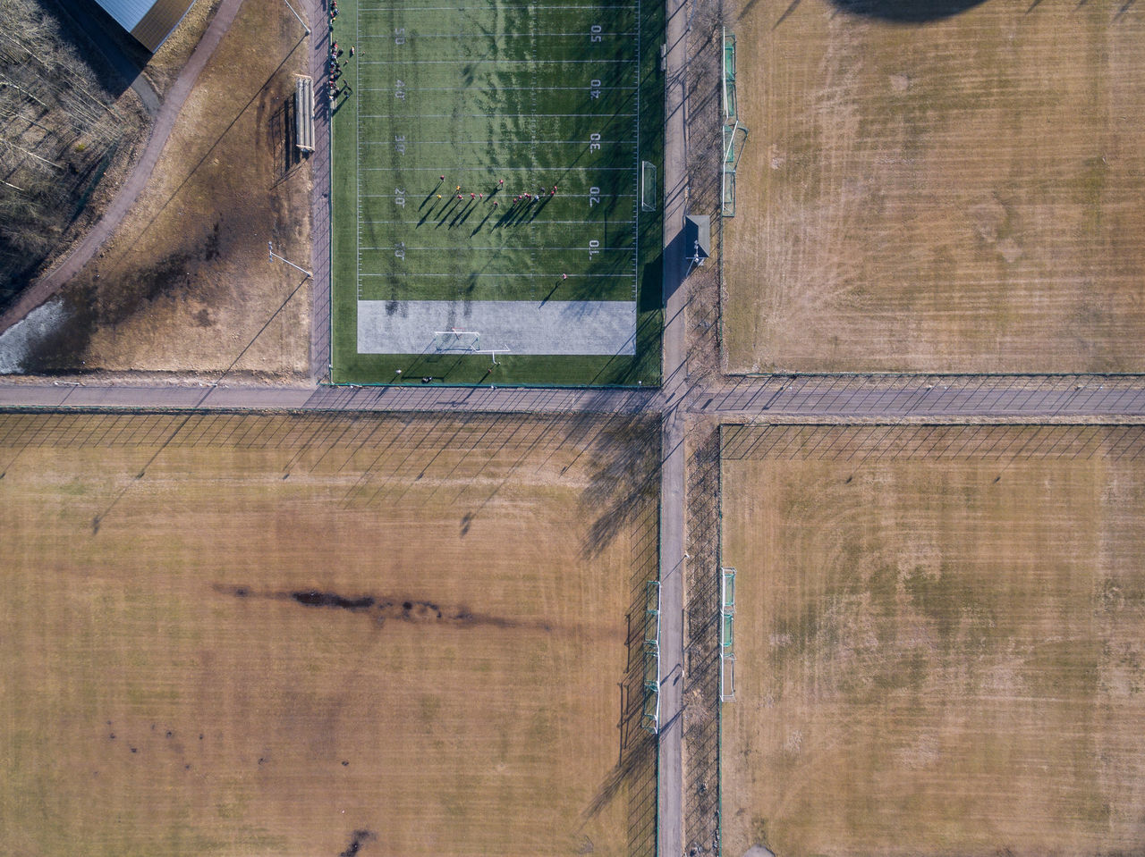 Architecture Building Exterior Built Structure Day Drone  Finland Football Football Field From Above  Helsinki High Angle View Nature No People Outdoors Top Perspective Window