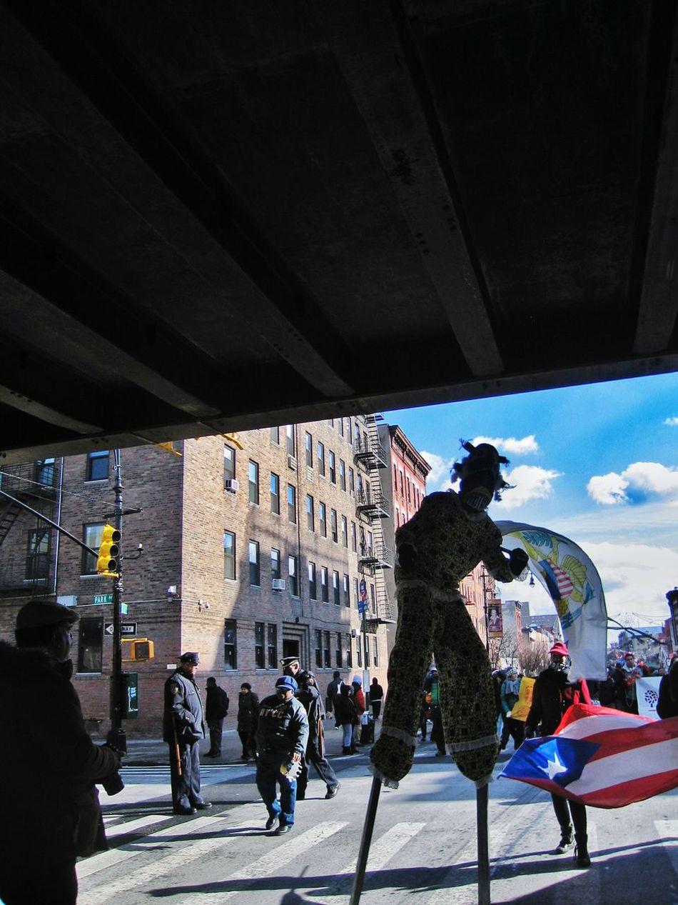 Three Kings Parade Stiltwalker Harlem, NYC Spanish Harlem El Barrio NYC Three Kings Parade 2017