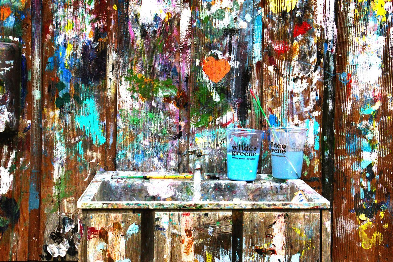 abandoned, no people, day, multi colored, close-up, indoors